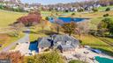 Aerial  view of yard and driveway. - 5302 IJAMSVILLE RD, IJAMSVILLE