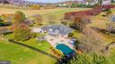 Aerial  view of backyard - a gorgeous setting. - 5302 IJAMSVILLE RD, IJAMSVILLE