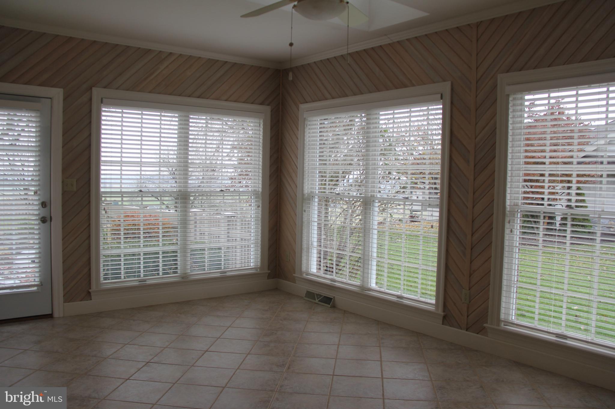 Sun Room with Ceramic Tile Floors