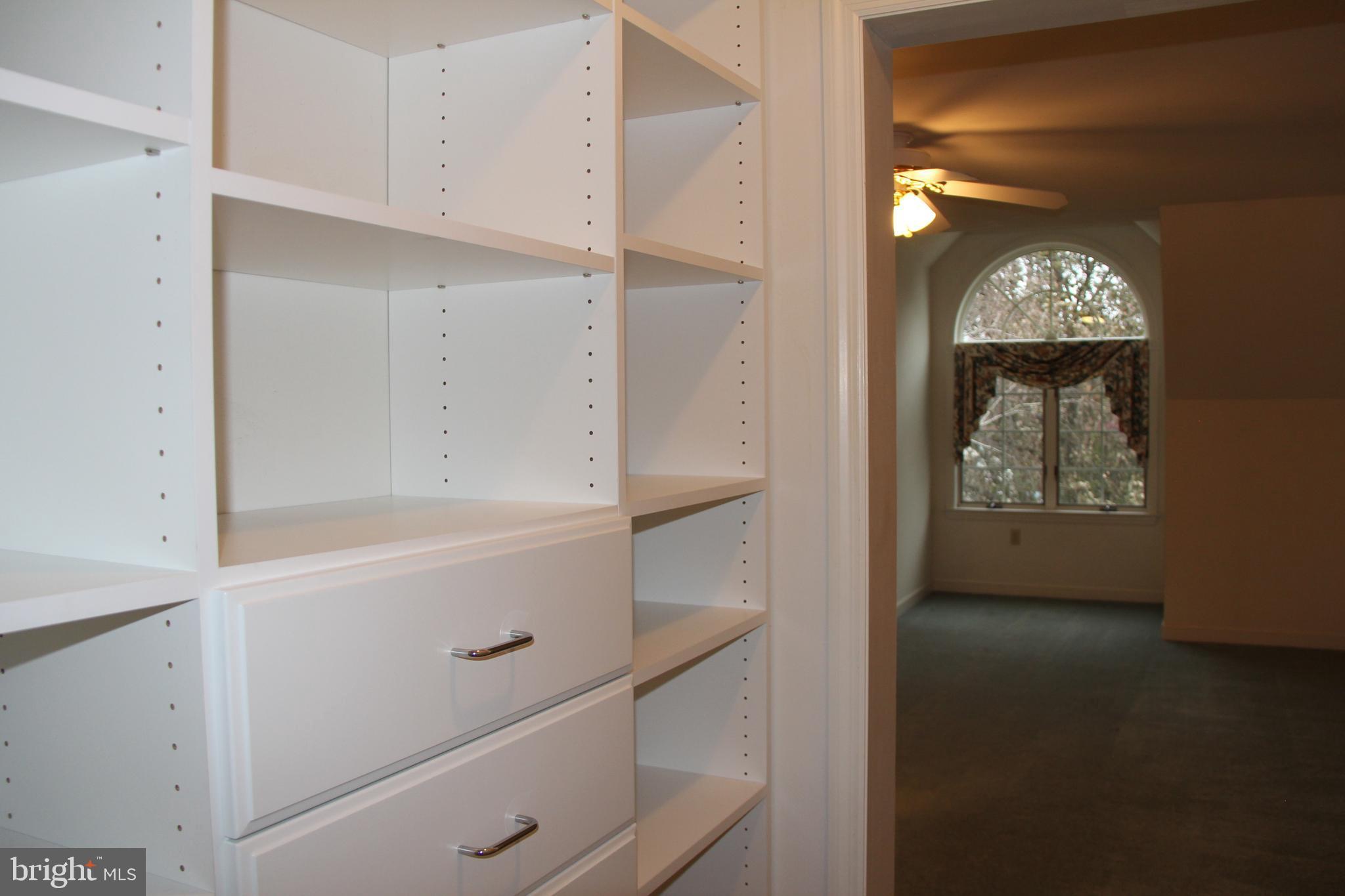 Wardrobe and Closet leading into Flex Room