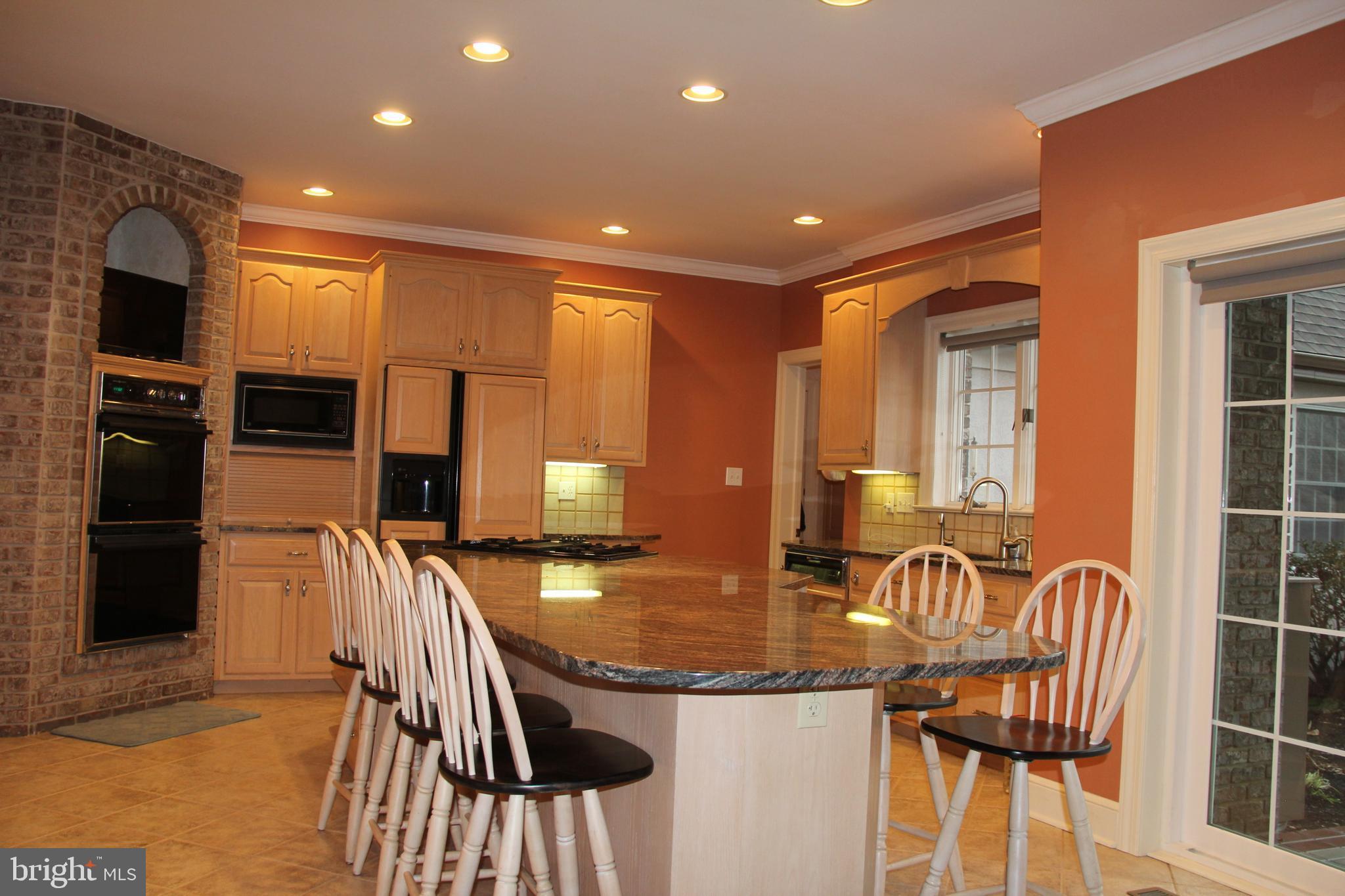Spacious Granite Kitchen Island