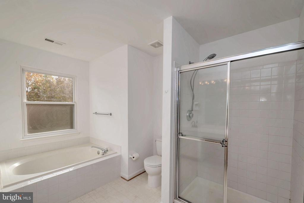 Master Bath Tub and Separate Shower - 64 BRITTANY LN, STAFFORD