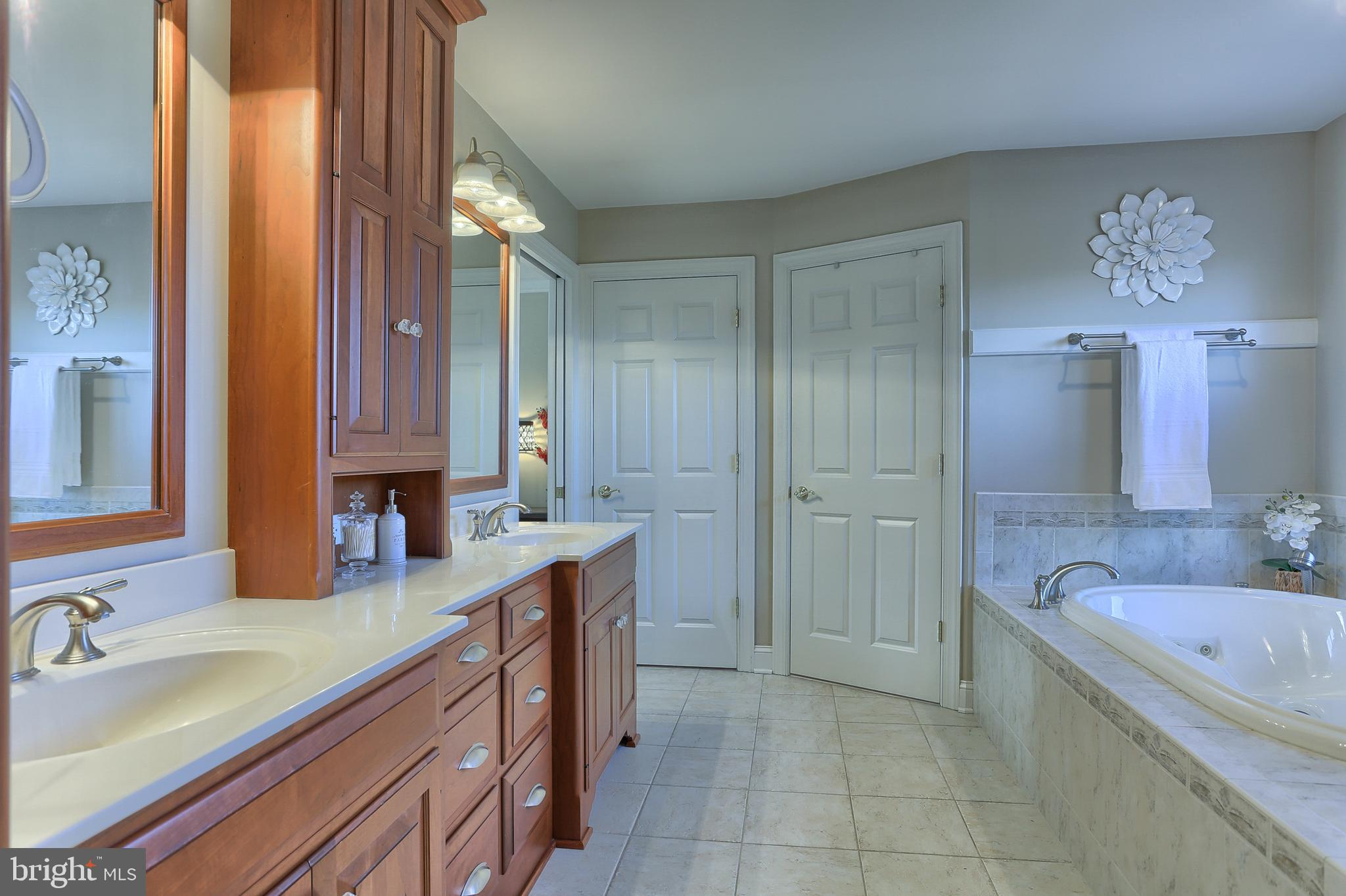 Classic Cherry Cabinetry keeps you organized
