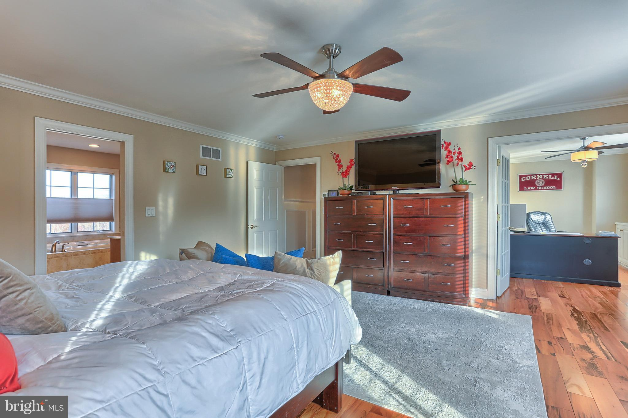 Master Bedroom boasts 2 Closets- Private Office