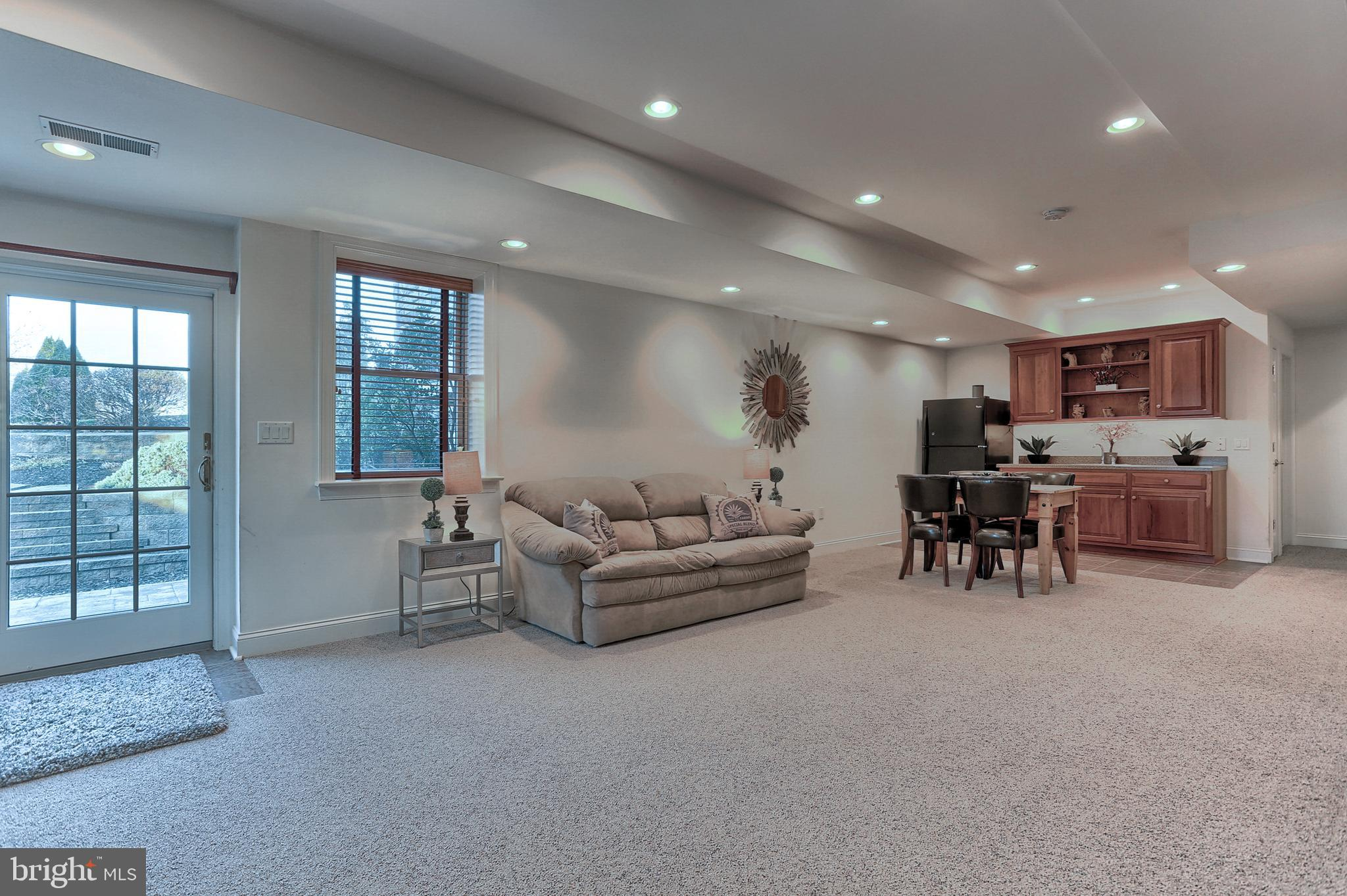 Lower Level Family Room with Walkout Patio