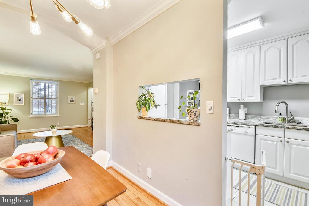View of the kitchen from the dining room! - 3327 S STAFFORD ST, ARLINGTON