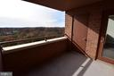 Private balcony with incredible views - 10101 GROSVENOR PL #1919, ROCKVILLE