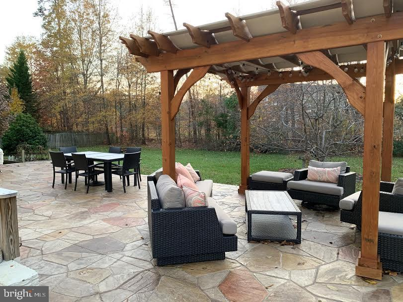 This is the back deck made of stamped concert - 10202 BLAKELY ST, FREDERICKSBURG