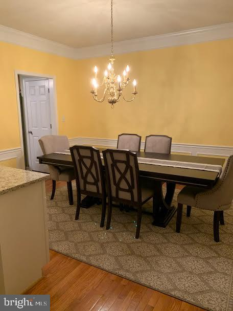 This is the large dining room - 10202 BLAKELY ST, FREDERICKSBURG