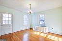 Dining Room provides access to Sun Porch, too - 1612 FRANKLIN ST, FREDERICKSBURG