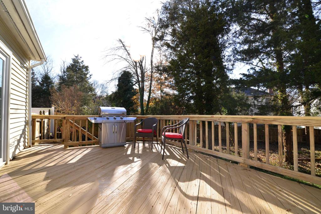 Grill, entertain and enjoy this deck - 13703 HOLTON PL, CHANTILLY