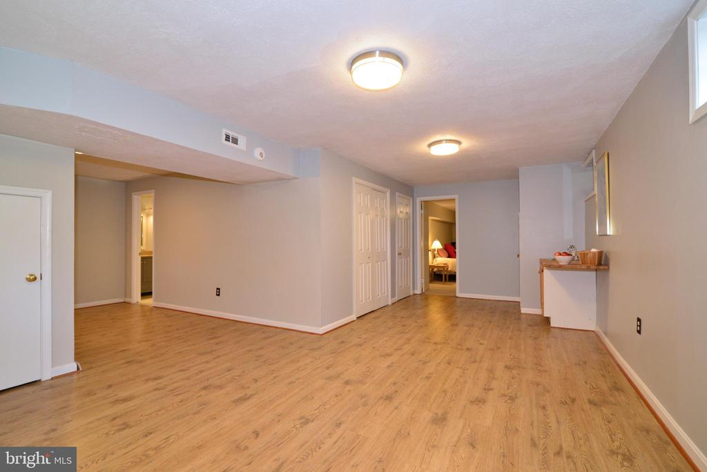 Open layout of fully finished basement - 13703 HOLTON PL, CHANTILLY