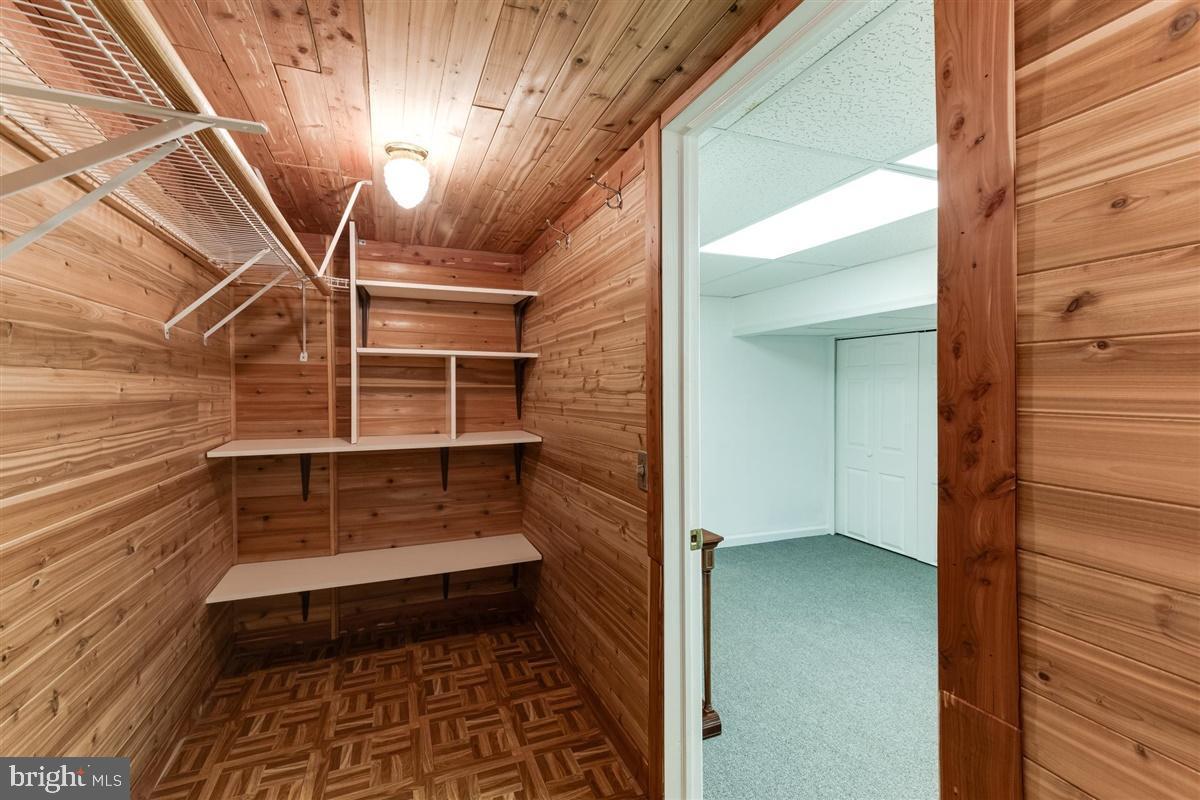 Cedar Closet in Basement