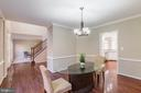 Formal Dining Room off the Foyer - 13232 KAHNS RD, MANASSAS