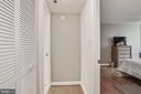 Coat closet in hall - 1024 N UTAH ST #219, ARLINGTON