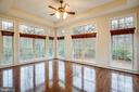 Conservatory brings nature feeling right indoors. - 11500 BALMARTIN CT, SPOTSYLVANIA