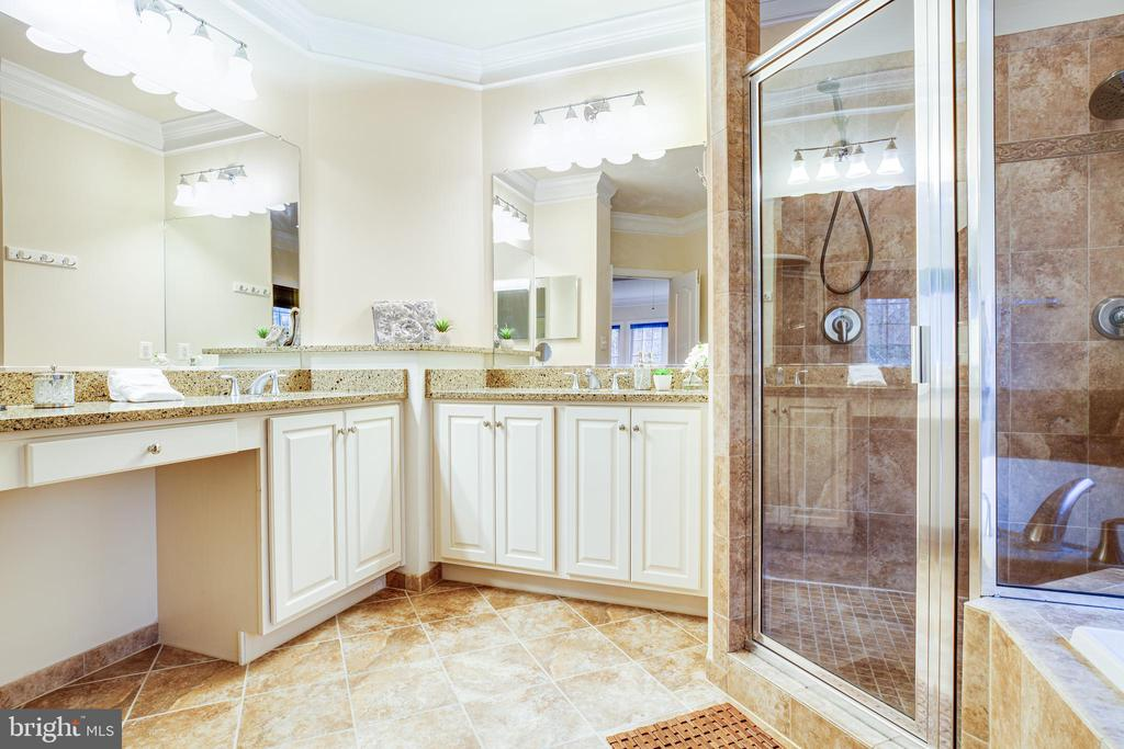 Owner's Bath is opulent with Quartz & Ceramics. - 11500 BALMARTIN CT, SPOTSYLVANIA