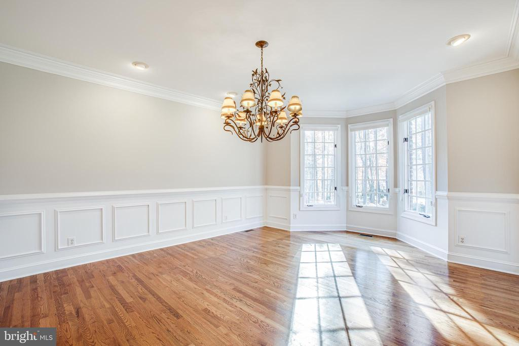 Dining Room has classic features - 11502 GENERAL WADSWORTH DR, SPOTSYLVANIA