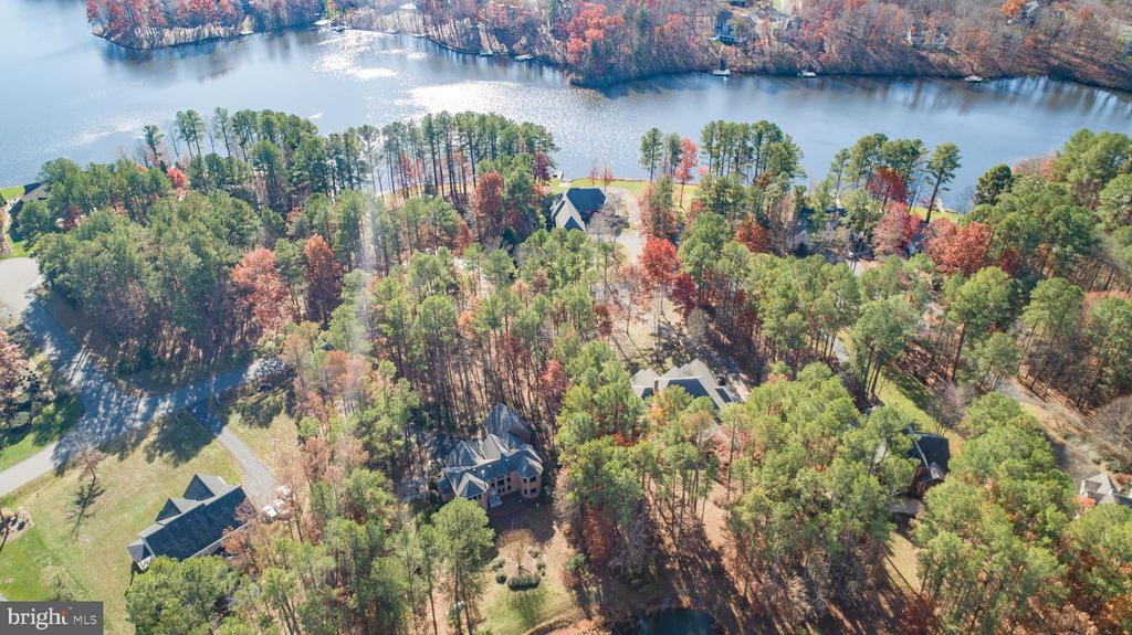 The lake is directly across the cul de sac - 11502 GENERAL WADSWORTH DR, SPOTSYLVANIA