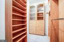 Built-ins in walk-in closet - 11502 GENERAL WADSWORTH DR, SPOTSYLVANIA