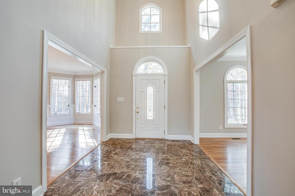 Gleaming marble invites you into the 2-story foyer - 11502 GENERAL WADSWORTH DR, SPOTSYLVANIA