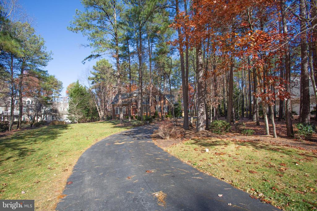 The driveway features elegant lighting - 11502 GENERAL WADSWORTH DR, SPOTSYLVANIA