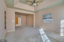 Tray Ceiling with Ceiling Fan in Master Bedroom - 3 GRISTMILL DR, STAFFORD