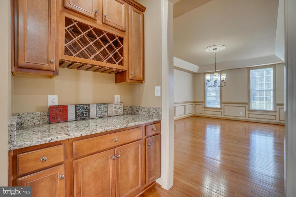 Butler's Pantry with Cabinets and Wine  Storage - 3 GRISTMILL DR, STAFFORD