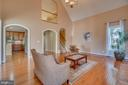 Arch doorways to Kitchen & Center Hallway/Foyer - 3 GRISTMILL DR, STAFFORD