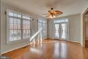 Double French Doors with Transom Windows - 3 GRISTMILL DR, STAFFORD
