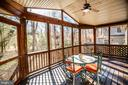 Screened Porch with Ceiling Fan - 113 EDGEHILL DR, LOCUST GROVE