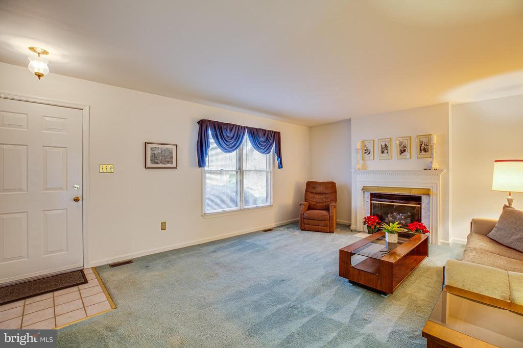 Living Rm with Gas Fireplace - 113 EDGEHILL DR, LOCUST GROVE