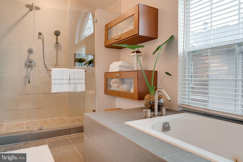 Master bath / tub & shower - 3028 S GLEBE RD #3028, ARLINGTON
