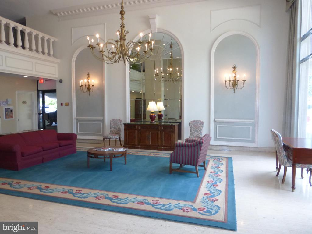 Updated Lobby with automatic  doors - 1300 S ARMY NAVY DR #1005, ARLINGTON