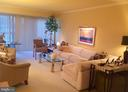 Gracious living room complete with artwork - 1300 S ARMY NAVY DR #1005, ARLINGTON