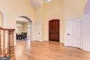 Hardwood floors throughout first and second level - 16311 BARNESVILLE RD, BOYDS