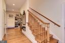 Back staircase to upper level - 16311 BARNESVILLE RD, BOYDS