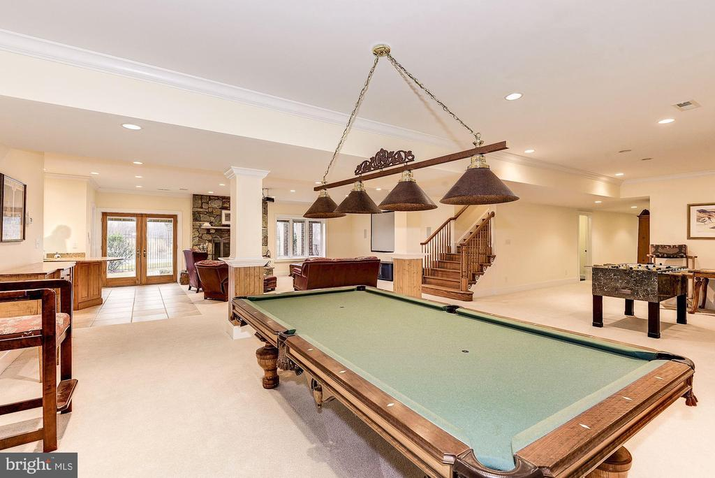 Game Room area with outside access - 16311 BARNESVILLE RD, BOYDS