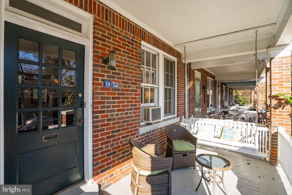 Front porch - 1932 38TH ST NW, WASHINGTON