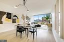 Floor-to-ceiling windows - 1111 24TH ST NW #74, WASHINGTON
