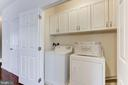 Laundry Off Kitchen w/ Built-in Shelving - 42915 PAMPLIN TER, CHANTILLY