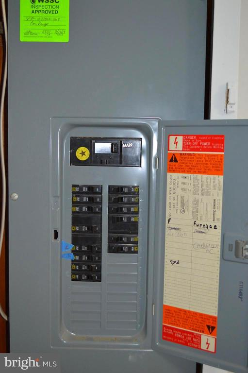 Fuse panel with recent inspection - 4510 FURMAN, SILVER SPRING