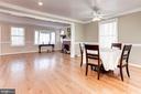 Dining Room - Hardwood Floors! - 6813 JEFFERSON AVE, FALLS CHURCH