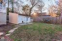 Backyard + Storage Shed! - 6813 JEFFERSON AVE, FALLS CHURCH