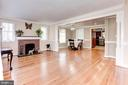 Living Room - Hardwood Floors! - 6813 JEFFERSON AVE, FALLS CHURCH