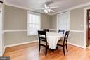 Separate Dining Room - Can Seat However Many! - 6813 JEFFERSON AVE, FALLS CHURCH