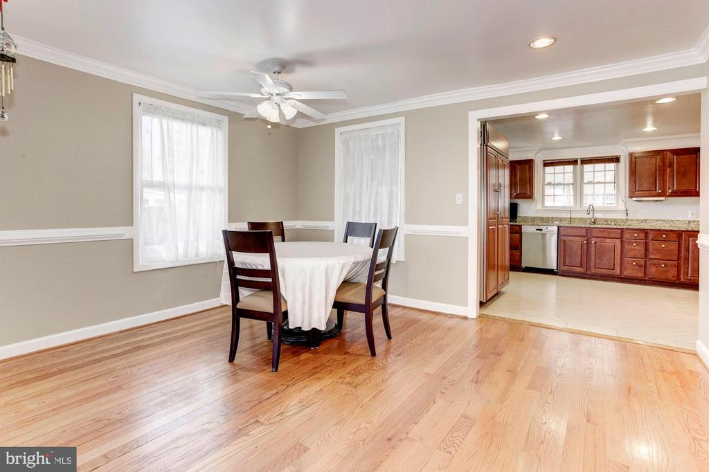 Dining Room - Ceiling Fan & Recess Lighting! - 6813 JEFFERSON AVE, FALLS CHURCH