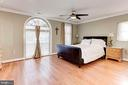 Master Bedroom - Hardwood Floors, Ceiling Fan! - 6813 JEFFERSON AVE, FALLS CHURCH