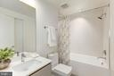 Full bathroom - 1101 Q ST NW #202, WASHINGTON