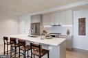 Kitchen island with breakfast bar - 1101 Q ST NW #202, WASHINGTON